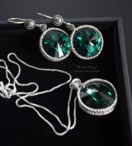 "Кулон ""Emerald green"""