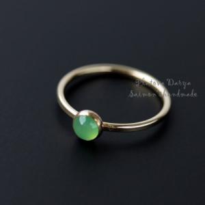 "Кольцо ""Apple green round"""