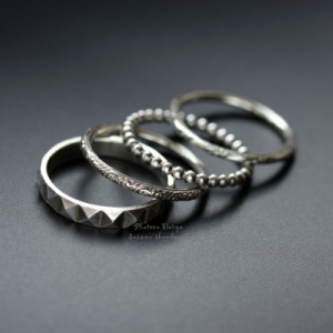 "Набор из четырех колец ""Stacking rings"""