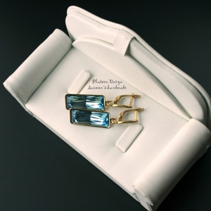 "Серьги ""Gold Rectangle charm"""