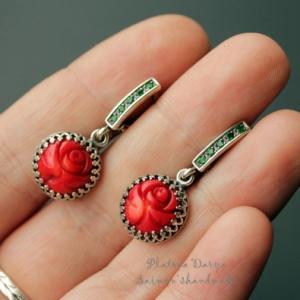 "Серьги ""Red roses"""