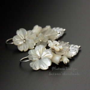 "Серьги серебряные ""White bouquet"""