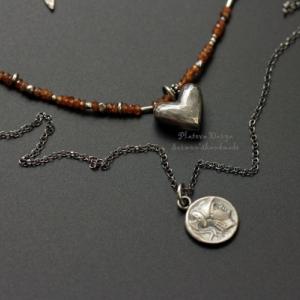 """Открывающийся серебряный медальон """"Ferrum faceted heart"""""""