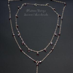 Серебряное украшение с гранатами