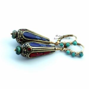 """Серьги """"Dream of Tibet lapis lasuli"""""""