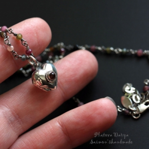 "Открывающийся серебряный медальон ""I'll give you my heart"""