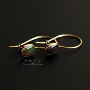 "Cерьги ""Opal in gold"""