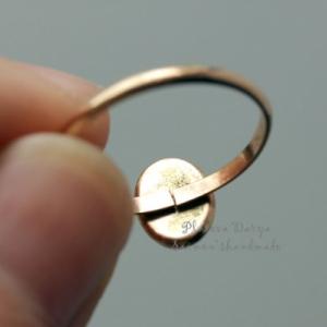 "Кольцо ""Sleeping beauty in gold oval"""