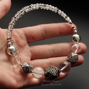 "Комплект из серебра ""Rock crystal cold"""
