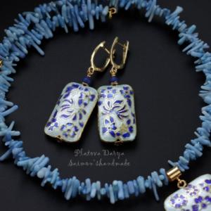 """Серьги """"Blue flowers"""""""