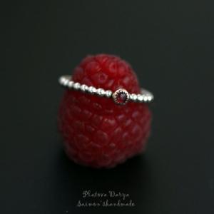 "Кольцо из серебра и золота с розовым турмалином ""Tourmaline delight"""
