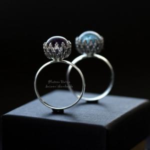 """Серебряное кольцо """"Ornament ball"""""""