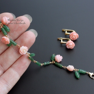 """Комплект браслет и серьги """"Rose garden"""""""