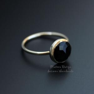"Кольцо ""Onyx black rose"""