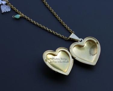 "Именной кулон сердце ""Name's heart"""