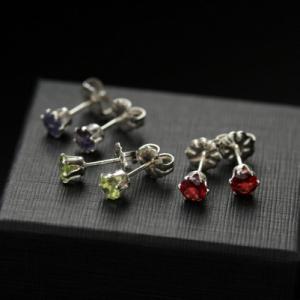 """Серебряные пуссеты """"Minimal colour"""""""