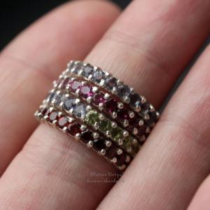"""Серебряное кольцо """"Stone line"""""""