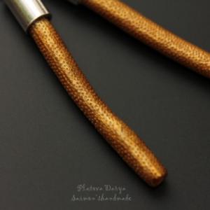 """Серебряные серьги """"Gold coral"""""""