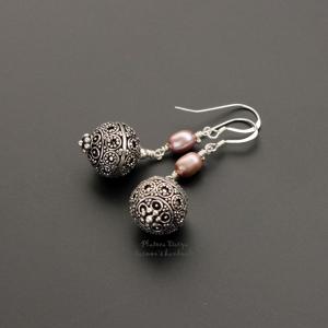 "Серьги ""Bohema style pink"""
