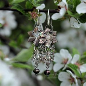 "Серьги из серебра ""Flower deco"""