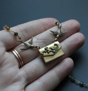 """Открывающийся медальон """"Spring letter"""""""