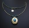 """Открывающийся медальон """"Turquoise secret"""""""