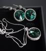 "Серьги ""Emerald green"""