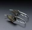 """Серебряные серьги """"Peridot or citrine leaf"""""""