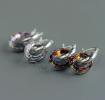 "Серебряные серьги с кристаллами Swarovski ""Glare of holiday"""