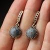 """Серебряные серьги """"Blue coral"""""""