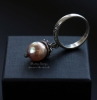 "Серебряное кольцо с жемчугом ""Pearl ornament"""