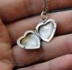 "Cеребряный открывающийся медальон-сердце ""Tourmaline heart"""