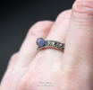 """Серебряное кольцо с танзанитом """"Blue ball"""""""