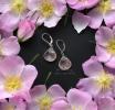 """Серьги с розовым кварцем """"Rosehip"""""""